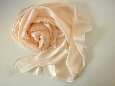 Satin Chiffonschal Stola Schal Hochzeit Abendkleid Glanz Glänzend Ivory Gute WäRmeerhaltung