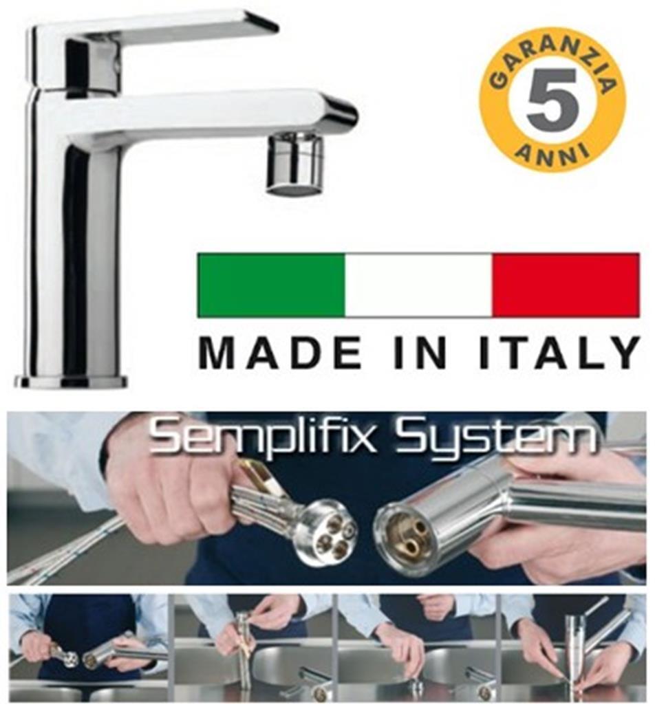Miscelatore bidet Atlantic made in  brevetto Semplifix piletta clic clac