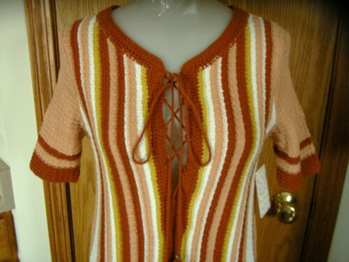 Up dk Top wht xs s tunica nwt Free ruggine maglia nude oro Neckline pizzo People s Kf7MpAwqU