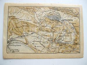 Agrigento Cartina Sicilia.Stampa Antica Mappa Sicilia Agrigento Porto Empedocle Villaseta 1940 Ebay