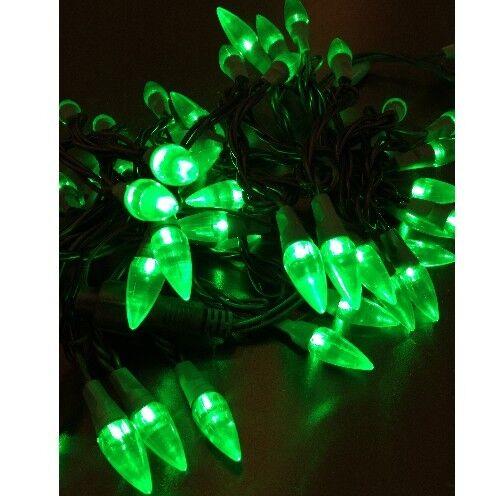 Chaîne Lumineuse Led Parti Lumières 50 Lampes Vert Forme de Goutte