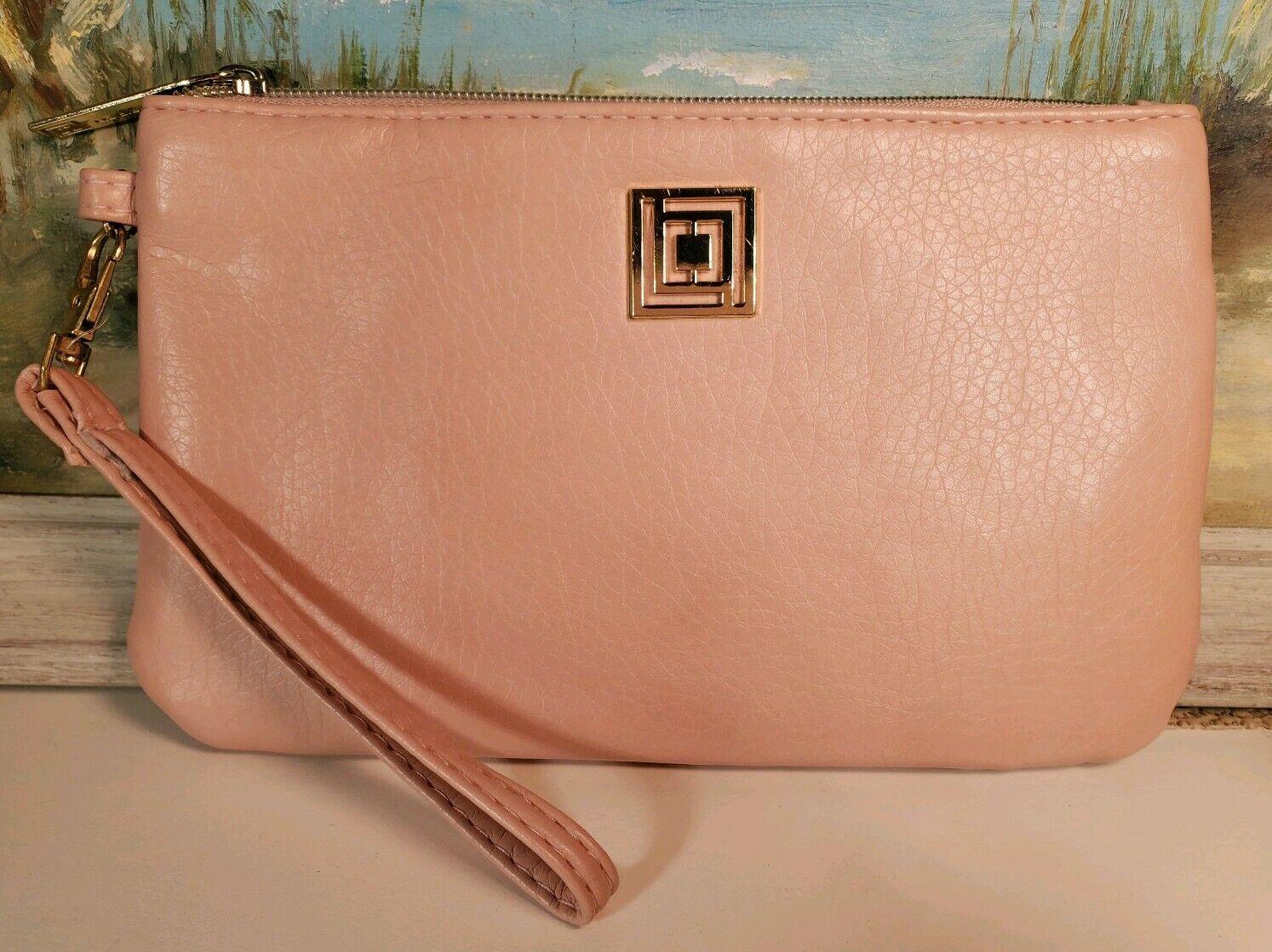 Liz Claiborne wristlet pink faux leather NWOT Womens