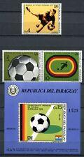 PARAGUAY 1974 Fußball WM Deutschland Soccer FIFA 2583-2585 + Block 207 ** MNH