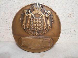 MéThodique Medaille Bronze Louis Ii Prince Monaco Pierre Turin 1944 Armoiries Blason 190g Jolie Et ColoréE