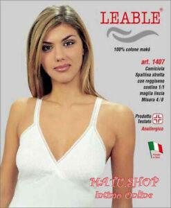 2 Canotte Spalla Stretta CIESSETI Forma Seno Tg 4 BIANCO 100/% COTONE art.30002
