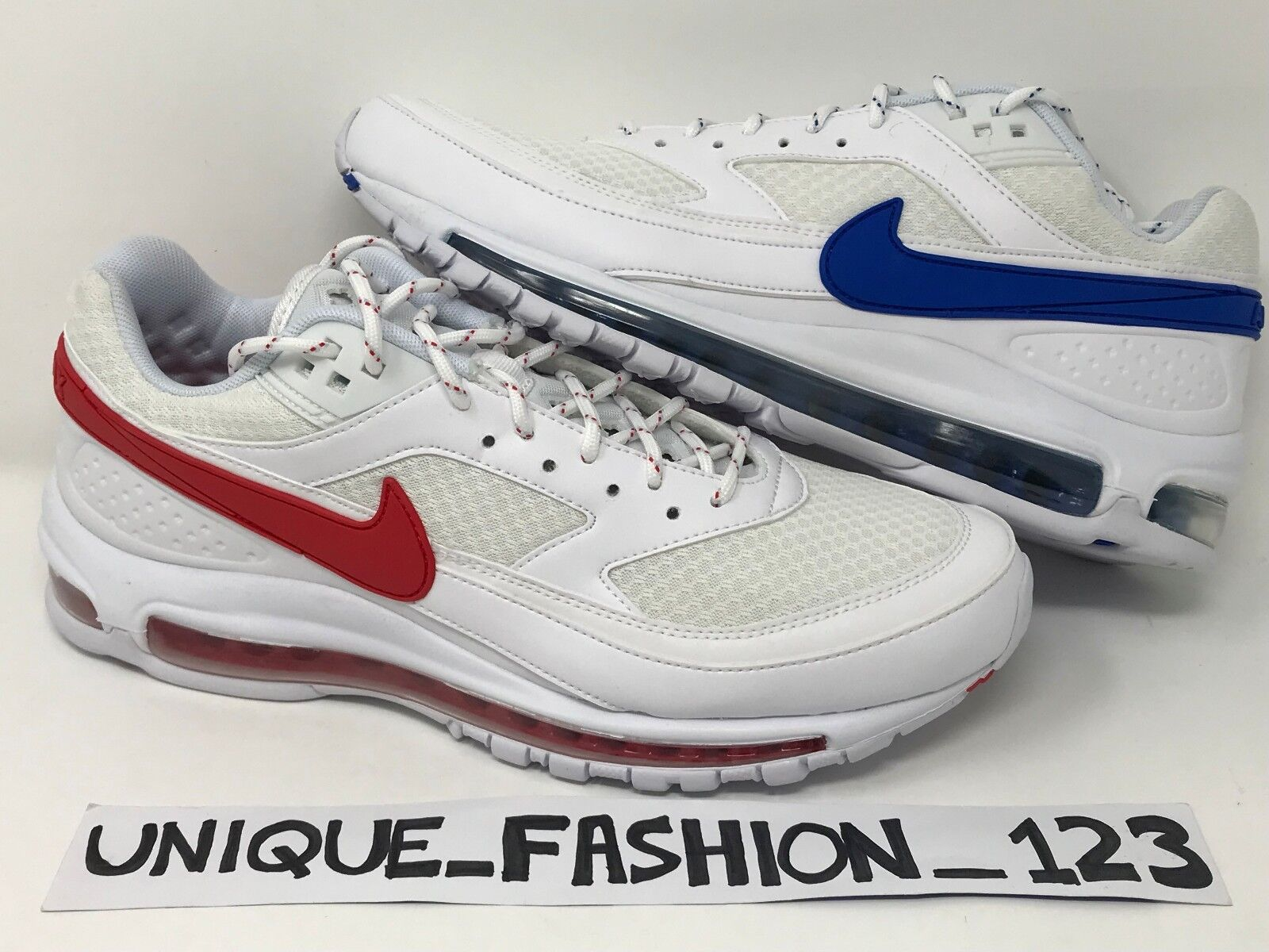 NIKE AIR MAX 97 BW X SKEPTA SK AIR II 2 WHITE RED blueE