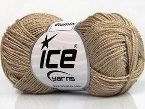 10 PELOTES DE LAINE ICE YARNS ETAMIN CREME