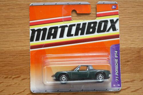 Porsche 914 Matchbox 1:60 modèle 1971 verte dans son emballage