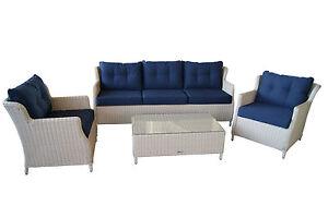 Polyrattan Lounge Set - Garnitur Sitzgruppe - Elegant Komfortabel ...