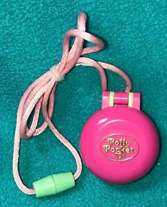 Vintage-Polly-Pocket-Polly-in-her-Keep-Fit-locket-necklace-1991-COMPLETE