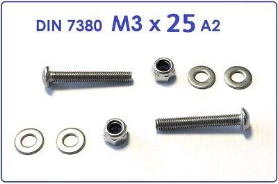 Linsenkopfschraube  M3x35 Edelstahl A2 Mutter M3 20 St Innensechskant