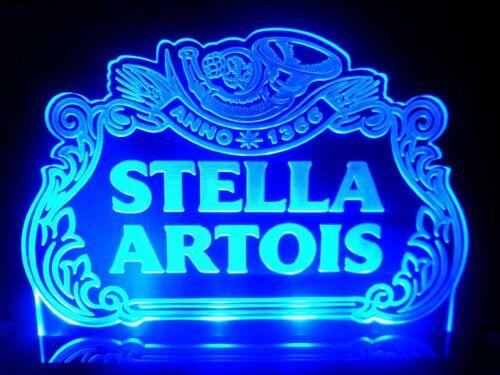 Multi color Stella Artois Beer Bar LED Light Sign Counter top Pub Business Decor