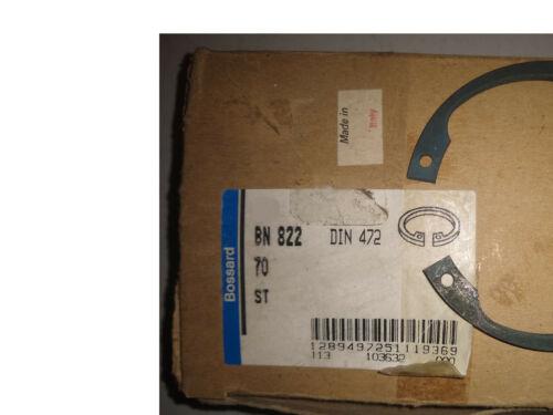 Bossard BN 822 #70 Metric Internal snap retaining ring made in Italy Din 472