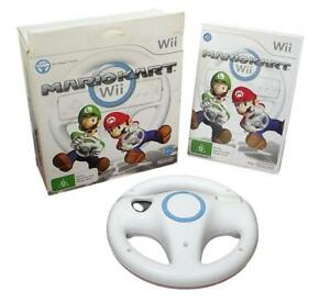 Boxed Mario Kart and Steering Wheel Nintendo Wii, Wii U Compatible