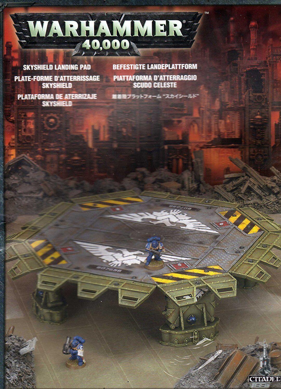 Juegos taller Warhammer 40K Skyshield Landing Pad Nuevo Y En Caja Nuevo Sellado paisaje GW