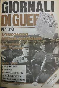 GIORNALI-DI-GUERRA-N-70-L-039-incontro-Mussolini-Hitler-L-039-eruzione-del-Vesuvio