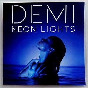 DEMI LOVATO * NEON LIGHTS * US 13 TRK PROMO * HTF! * TRACY ...
