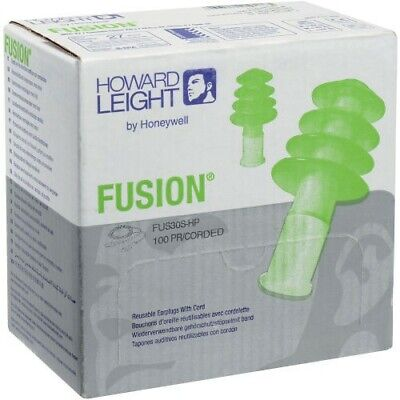 HOWARD LEIGHT by Honeywell Reusable Ear Plugs Fusion Corded Small Earplugs