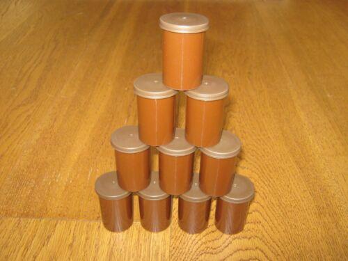 le stockage des objets, 10 x brown film 35mm pots//boîtes conteneurs-pour géocache