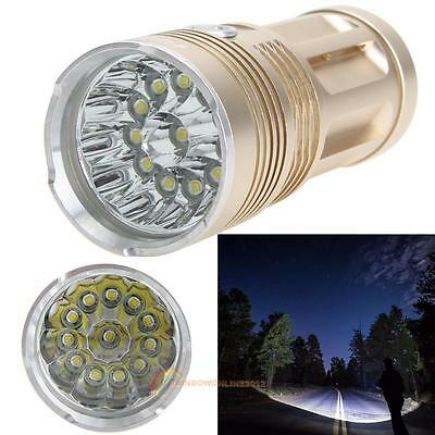 30000Lumen 12x CREE XM-L T6 LED Flashlight Torch 4x 18650 Hunting Lighting Lamp