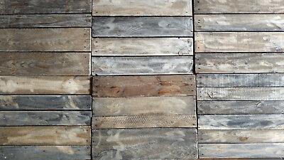 Holzwand Holzpaneele Holz Wandpaneele Altholzbrett Verwittert Alte Bretter SchöNe Lustre