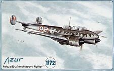 "POTEZ 630 ""FRENCH HEAVY FIGHTER""  AZUR 1/72 PLASTIC KIT"