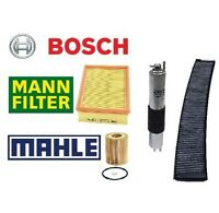 Bmw E46 3-series Complete Filter Set Oil-air-gas & Charcoal Cabin Filter on sale
