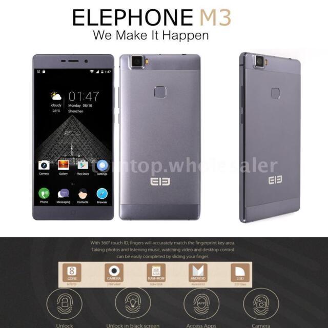 "Elephone M3 4G FDD-LTE 5.5"" Handy Android 6.0 MTK6755 3GB+32GB 8MP 21MP Z5H2"