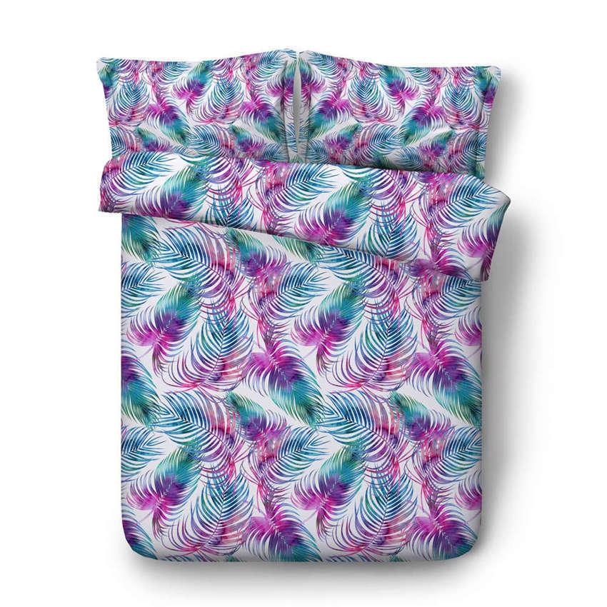 verdeiginous Leaves 3D Printing Duvet Quilt Doona Covers Pillow Case Bedding Sets