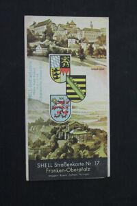 alte-Karte-Strassenkarte-Nr-17-Shell-Franken-Oberpfalz-old-vintage-Sammler