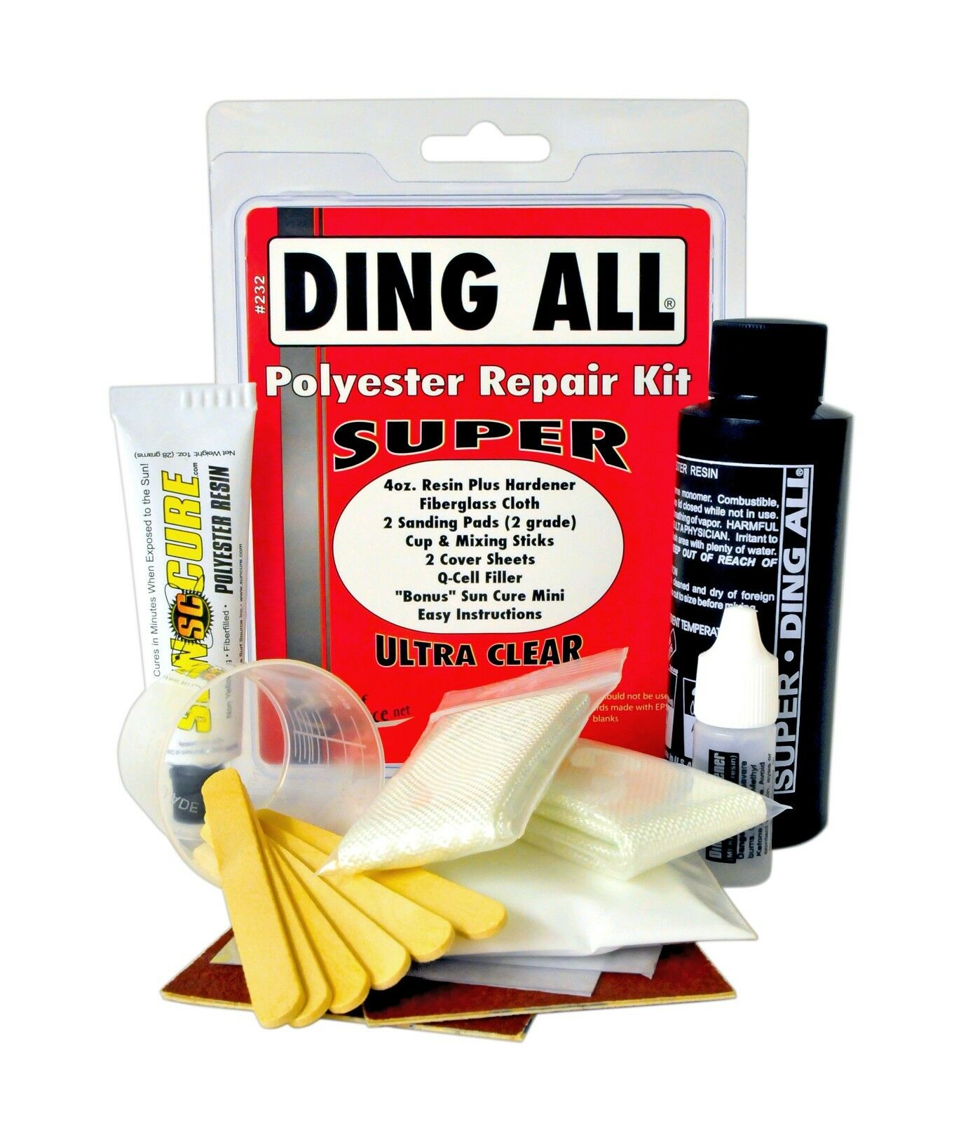 Ding All Super (Polyester) Repair Kit