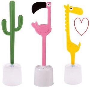 novelty toilet brush bathroom flamingo holder funny w/c | ebay