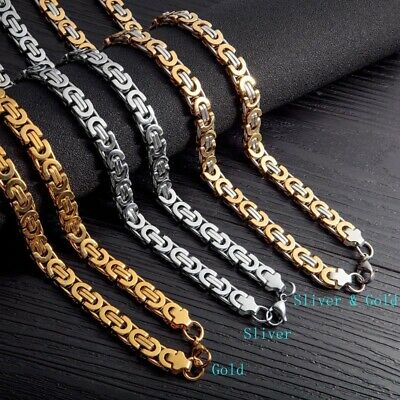 22 Stainless Steel Neck Chain Men S Hip Hop Fashion Simple Link Chains Jewelry Ebay