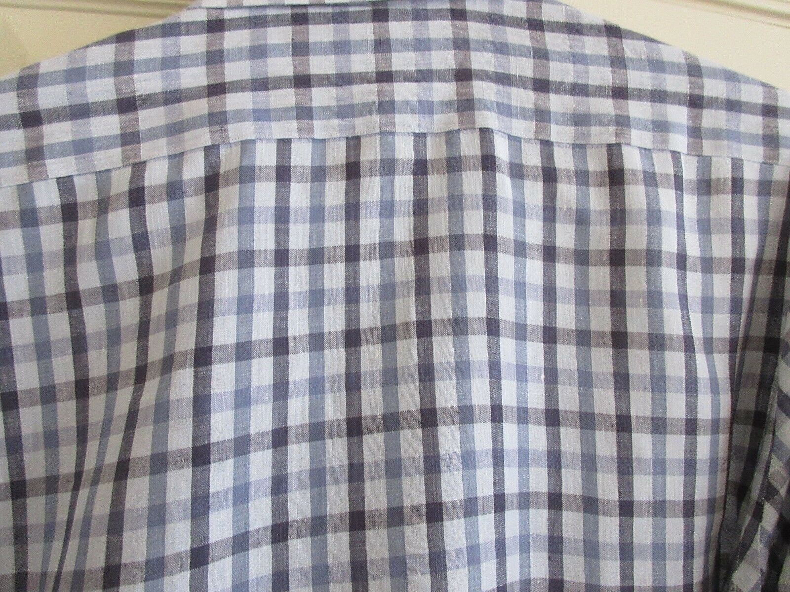 TOSCANO , Long Sleeve , Men's XL , 100 % Linen , Blue /