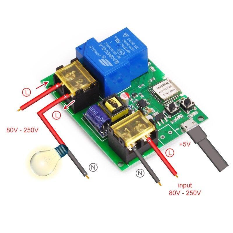 Wifi Remote High Power Relay Module 220V 30A 6000W For Remote Control  Switch | eBay