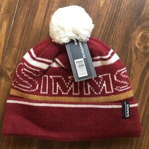 60ed4fc5b8f39 Simms Wildcard Knit Hat - NEW!!  Tossel Cap - Ruby 694264366677