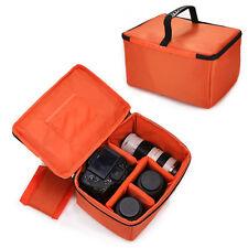 Large Waterproof Camera Insert Padded Partition Lens Bag DSLR SLR Carry Case