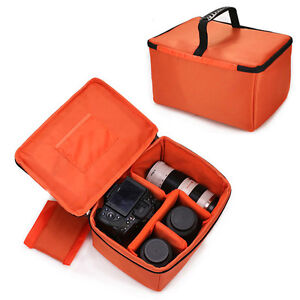 Large-Waterproof-Camera-Insert-Padded-Partition-Lens-Bag-DSLR-SLR-Carry-Case