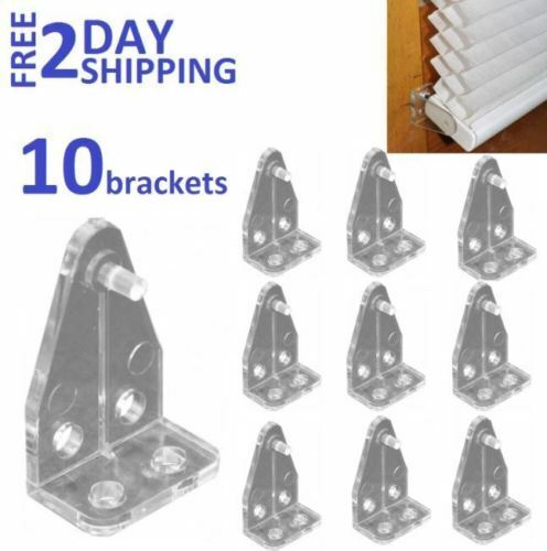 Clear, Amazing Drapery Hardware 5 Pair RV Hold Down Brackets for Mini Blinds up to 1in Wide