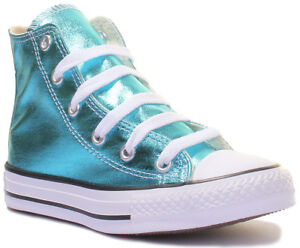 7b6849384806 Converse Chuck Taylor All Star Infants High Top Shiny Trainers