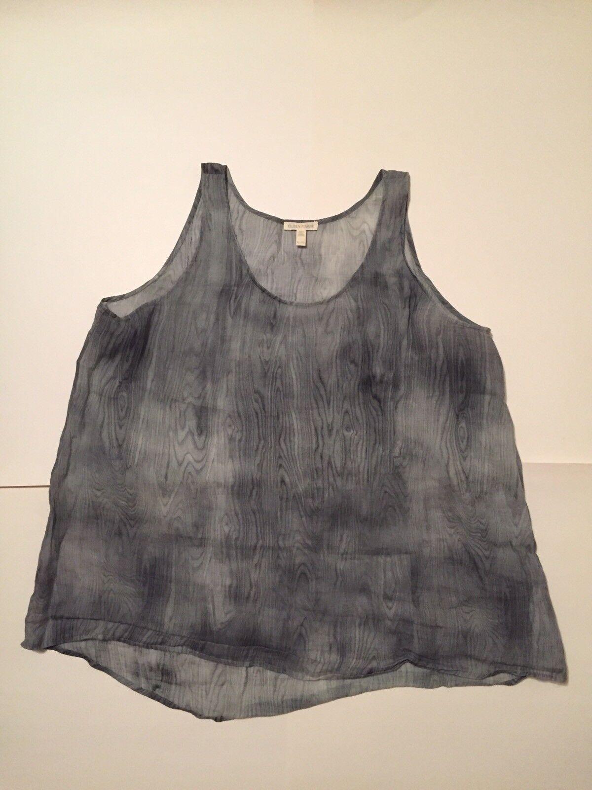 Eileen Fisher Printed Top - Größe XL - Shades of grau