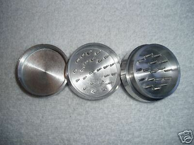 "Aluminum Tobacco, Herb Or Spice Grinder With Stash ""A"""