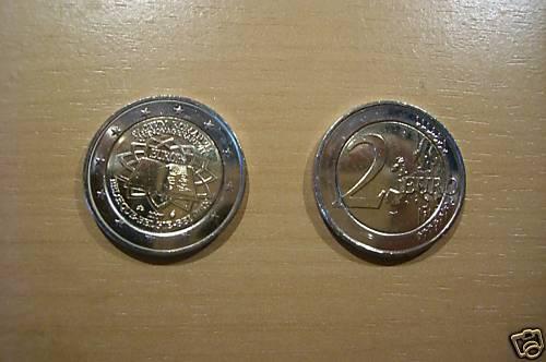 2 Euro Sondermünze Belgien 2007 Römische Verträge