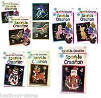 MAKE YOUR OWN SEQUIN SPARKLE CREATION CHILDREN PIN ART CRAFT SET