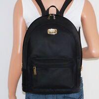 Michael Kors Large Jet Set Black Nylon Leather Backpack School Book Bag $298