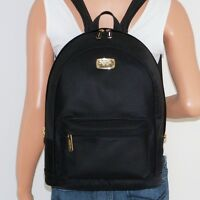 Michael Kors Large Jet Set Black Nylon Leather Backpack School Book Bag $298