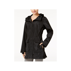 Calvin-Klein-Womens-Performance-Hooded-Jacket-Black-Size-X-Small