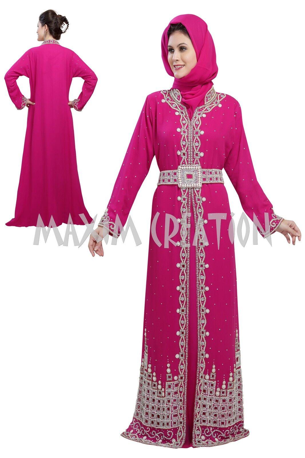 ELEGANT FANCY THOIBE CUT WORK HAND EMBROIDERY ISLAMIC TAKSHITA DRESS 5171