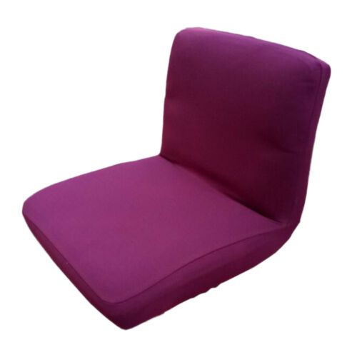 Swivel Chair Cover Bar Stool Low Back Seat Slipcover for Beauty Salon Purple