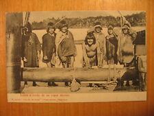 ~1905 alte AK / PC Indios a bordo de un vapor aleman / Indianer ( Chile )